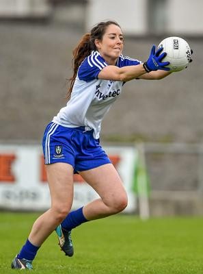 A hat-trick of goals from Cathriona McConnell propelled  Monaghan to top spot in Division 1 of the Tesco Ladies NFL yesterday.