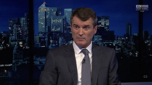 Roy Keane is pictured in his role as pundit on Sky Sports