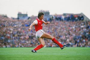 David O'Leary in action for Arsenal at Highbury. Photo: Getty Images