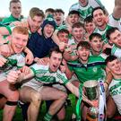 Ballyhale Shamrocks players celebrate after the AIB GAA Hurling All-Ireland Senior Club Championship final win over Borris-Ileigh at Croke Park in Dublin. Photo by Piaras Ó Mídheach/Sportsfile