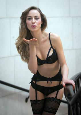 Daniella Moyles wearing Bluebella Vivienne Bra, Brief & Suspender as part of a showcase of Valentines Day Lingerie looks from the Lingerie Rooms at Brown Thomas.