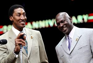 'As much as he tried to do it all on his own, it was still a team game. He had Scottie Pippen riding shotgun and Pippen was a pillar he could rely on through thick and thin.' Photo: Jonathan Daniel/Getty Images