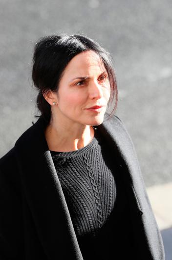 Irish musician, songwriter and actress Andrea Corr arrives for the funeral of the celebrated broadcaster Gay Byrne at St. Mary's Pro-Cathedral in Dublin. Brian Lawless/PA Wire