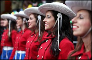 Enjoying the St Patricks Day Parade in Dublin was members of the Kilgore College Rangerettes. Pic Steve Humphreys