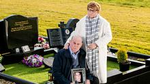 Stephen and Breege Quinn at the graveside of their murdered son Paul Quinn. The Quinn family are still waiting on Murphy to state that their son was not a criminal. Photo: Liam McBurney/PA Wire