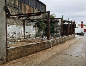 The former stables which was used for the distribution of drugs in the Meath St area