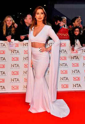 Ferne McCann attending the National Television Awards 2017 at the O2, London.