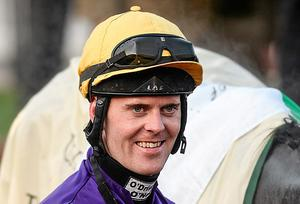 In March Robbie McNamara enjoyed a whirlwind two days at the Cheltenham Festival, sporting the Dr Ronan Lambe colours of Majestic Concorde and Lord Windermere to victory on Weld's Silver Concorde in the Champion Bumper. Barry Cregg / SPORTSFILE