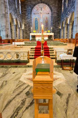The coffin of Bishop Casey rests in the Cathedral of Our Lady Assumed into Heaven and St Nicholas Photo: Tony Gavin