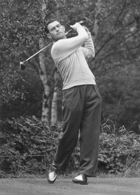 Christy O'Connor in action in 1957. Photo: Getty Images