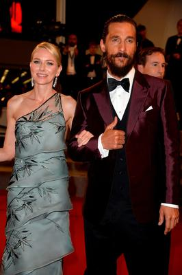 "Naomi Watts and Matthew McConaughey depart after the Premiere of ""The Sea Of Trees"" during the 68th annual Cannes Film Festival"