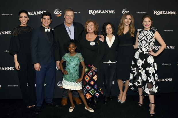 The cast of Roseanne before the scandal (Jordan Strauss/Invision/AP)