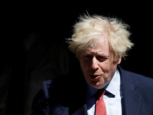 Tensions: UK Prime Minister Boris Johnson at Downing Street yesterday. Photo: Reuters