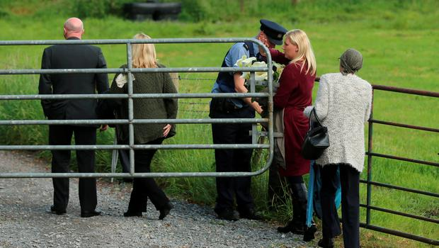 Members of Seamus Wright's family arrive at the site in Coghalstown, Co Meath, where two bodies were discovered on a reclaimed bog where three of the IRA Disappeared are believed to be secretly buried. Photo: PA
