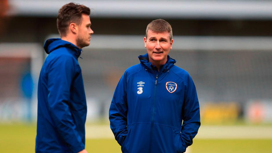 Ireland manager Stephen Kenny during a training session at the Hive Stadium, Barnet ahead of Thursday's friendly clash with England at Wembley