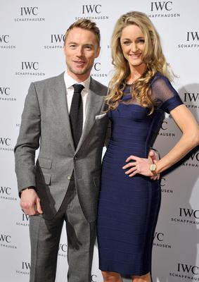 "Ronan Keating (L) and Storm Uechtritz attend the IWC ""Journey To The Stars"" Gala Dinner during the Salon International de la Haute Horlogerie (SIHH) 2015"