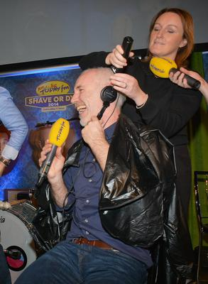 Jenny Kelly shaves Ray Darcy  - Today FM's The Ray Darcy Show broke their fifth World Record for Today FMs Shave or Dye. 179 heads and 179 shavers, recruited by the show, were gathered in The Round Room to undertake the record attempt. Pictures: Cathal Burke / VIPIRELAND.COM