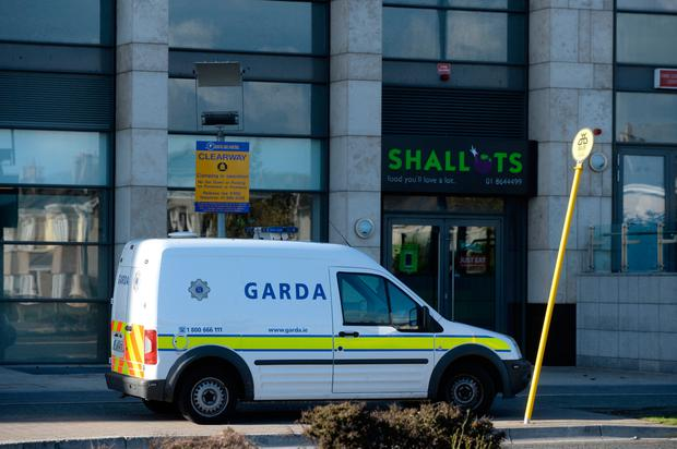 Charlestown shopping centre Finglas where there was an attempt to rob an ATM Pic: Justin Farrelly.