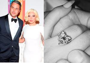 Lady Gaga and actor Taylor Kinney became engaged on Valentine's Day.
