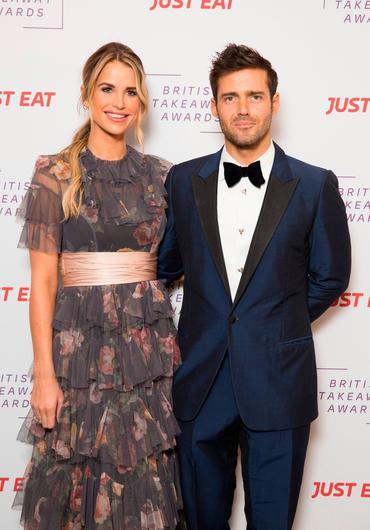 Vogue Matthews and Spencer Matthews attend the British Takeaway Awards, in association with Just Eat  at The Savoy Hotel on November 05, 2018 in London, England. (Photo by John Phillips/Getty Images)