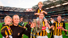 Tommy Walsh, Henry Shefflin and Eoin Larkin celebrate Kilkenny's victory in the 2014 All-Ireland final. Picture credit: David Maher/Sportsfile