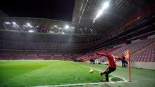 A behind-closed-doors game in the Turkish Super Lig, between Galatasaray and Besiktas. Photo: Reuters