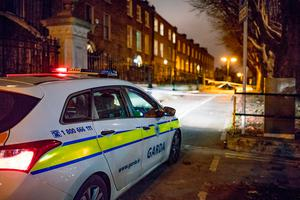 Gardai at the scene where a woman was atbbed during an attempted mugging in Drumcondra, Dublin. Picture:Arthur Carron