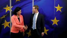 Mark Zuckerberg meets EU commissioner for values and transparency Vera Jourovasin