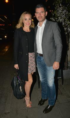 Kathryn Thomas and Padraig McLoughlin at The Voice of Ireland wrap-party at No. 37 Dawson Street