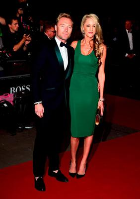 Ronan Keating and Storm Uechtritz attending the 2015 GQ Men of the Year Awards at the Royal Opera House, London. PRESS ASSOCIATION Photo. Picture date: Tuesday September 8, 2015. See PA story SHOWBIZ GQ. Photo credit should read: Ian West/PA Wire