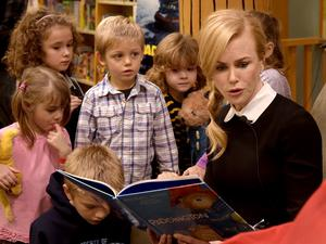 Nicole Kidman entertains young children in Tennessee (Photo by Rick Diamond/Getty Images for The Weinstein Company)