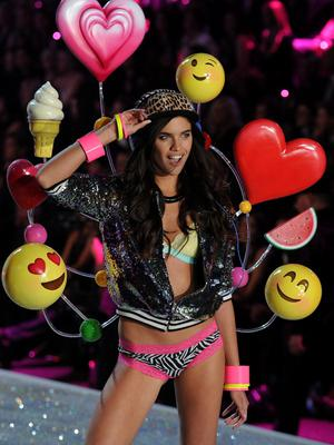 Sara Sampaio walks the runway at the 2013 Victoria's Secret Fashion Show at Lexington Avenue Armory on November 13, 2013 in New York City.  (Photo by Bryan Bedder/Getty Images for Swarovski)