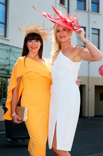 Daniella Gardiner, Knocknacarra and Michelle Murphy at the opening evening of the Galway Races. Picture: Frank McGrath