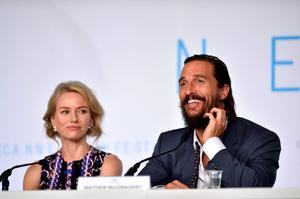 "Actors Naomi Watts and Matthew McConaughey attend the ""The Sea Of Trees"" press Conference during the 68th annual Cannes Film Festival"