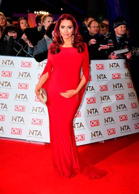 Amy Childs arriving at the National Television Awards 2017, held at The O2 Arena, London.