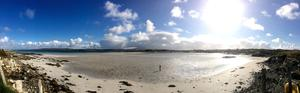 Philip Payne sent us this fab panorama of the bay beside Connemara Sands Hotel, Co. Galway
