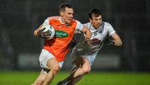 Armagh recorded a six-point win over Kildare in appaling conditions. Photo by Piaras Ó Mídheach/Sportsfile