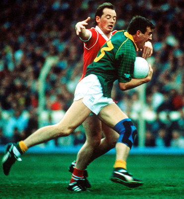 Colm O'Rourke and Niall Cahalane had an absorbing battle in the 1990 All-Ireland final. Photo: Ray McManus/Sportsfile