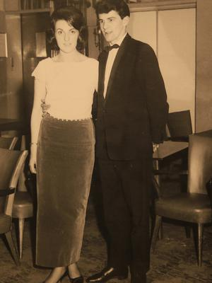 Vintage picture of Anne and Bernard Stevenson who celebrate their 50th wedding anniversary on Valentine's day.  Picture; Gerry Mooney
