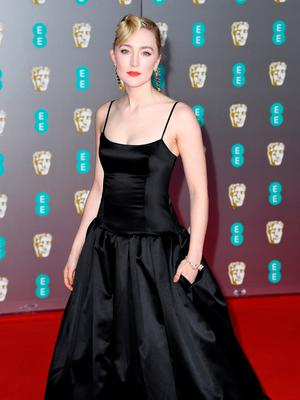 Saoirse Ronan attends the EE British Academy Film Awards 2020 at Royal Albert Hall on February 02, 2020 in London, England. (Photo by Gareth Cattermole/Getty Images)