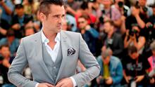 """Irish actor Colin Farrell poses during a photocall for the film """"The Lobster"""" at the 68th Cannes Film Festival"""