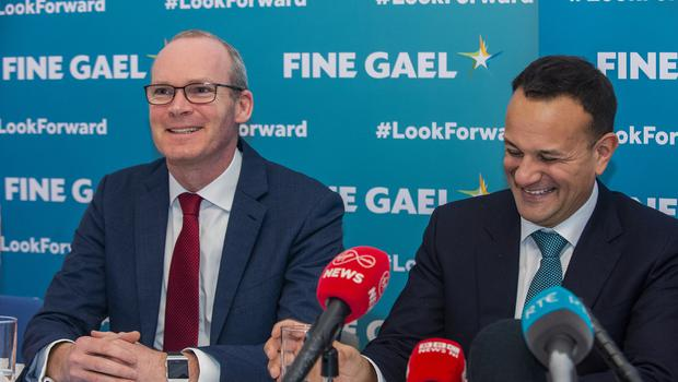 NO FEE FOR REPRO FRIDAY 31 JANUARY 2020. Photo: Douglas O'Connor. On the day Britain leaves the EU, Fine Gael Ministers visit the Institute of International and European Affairs, North Gt. Georges St. Dublin. L to R: Tanaiste Simon Coveney, Taoiseach Leo Varadkar.