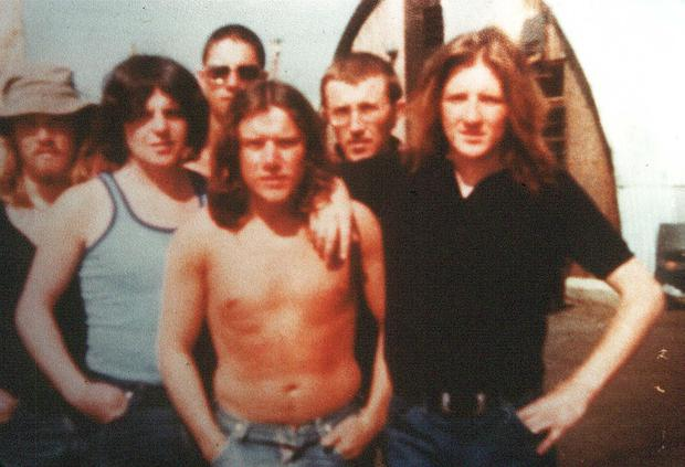 Bobby Sands (right) with other inmates in Long Kesh during his first spell in prison