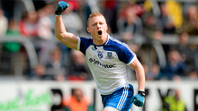Colin Walshe celebrates kicking a point. Photo: Oliver McVeigh/Sportsfile