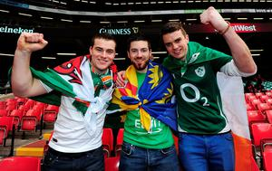 CARDIFF, WALES: Irish fans prior to the RBS Six Nations match between Wales and Ireland at Millenium Stadium this March in Cardiff, Wales. Photo: Dan Mullan/Getty Images