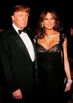 "Donald Trump and his wife Melania attend Fashion Group International's 22nd Annual ""Night Of Stars"" at Cipriani's 42nd Street October 27, 2005 in New York City.  (Photo by Evan Agostini/Getty Images)"