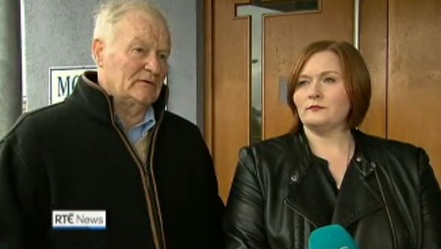 Capt Fitzpatrick's dad John and her sister Niamh Photo: RTE