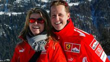Michael Schumacher poses with his wife Corinna before his tragic fall