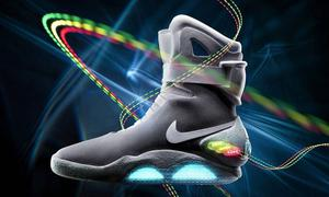 The Nike Mags (pictured) were created for a charity auction, but lacked the all-important self-fastening power laces