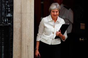 Backstop must be 'temporary': British Prime Minister Theresa May. Photo: Leon Neal/Getty Images